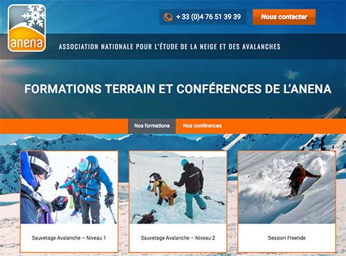 anena formation neige et secours avalanche