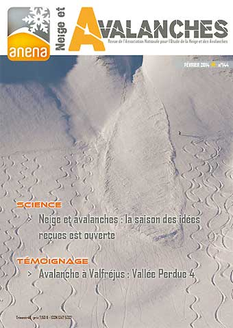 neige et avalanches n° 143 - anena