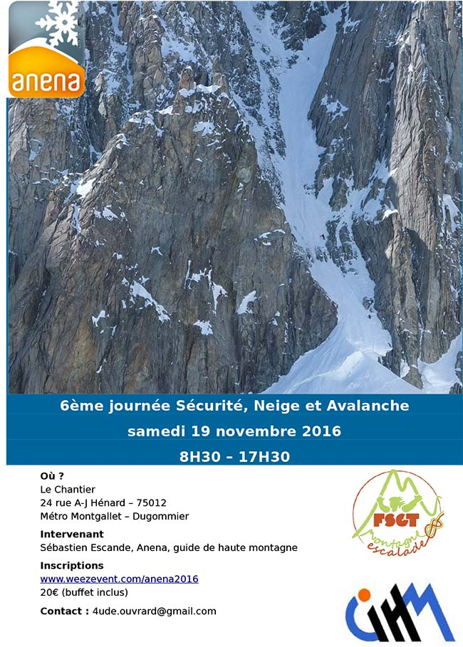 ANENA - JOURNEE SECURITE NEIGE AVALANCHES